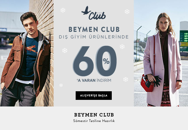 Club Dış Giyim %60'a Varan İndirim