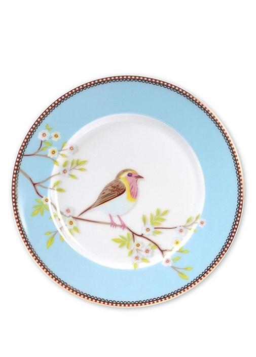 Floral Early Bird Mavi Kahvaltı Tabağı