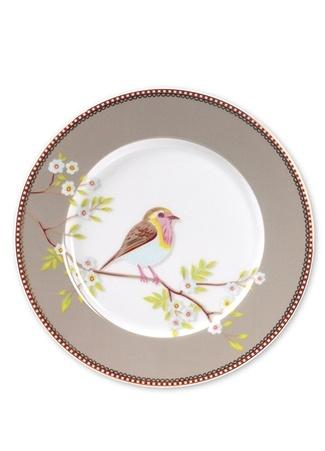Pip Studio Floral Haki Kahvaltı Tabağı Standart