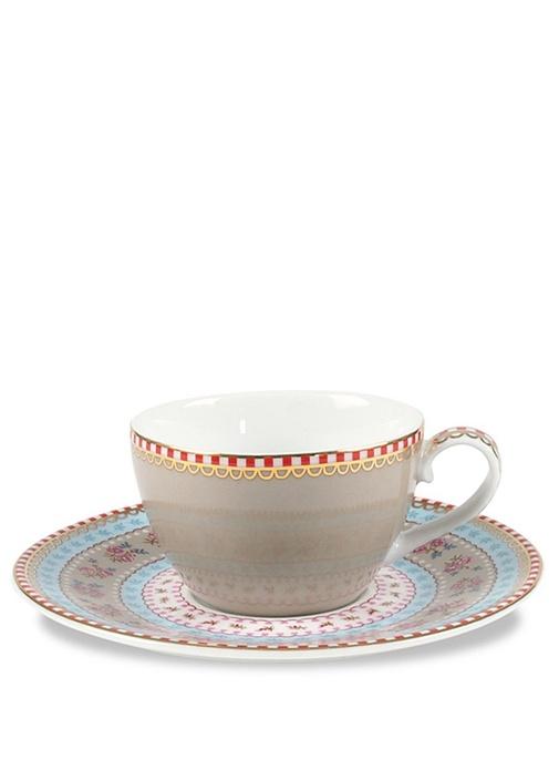 Floral Pip Haki Çay Fincanı