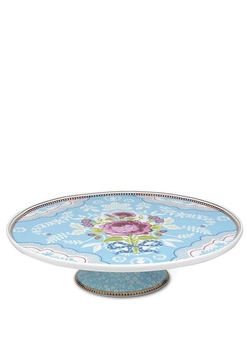 Floral Pip Mavi Kek Standı