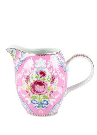 Pip Studio Floral Pembe Çiçek Baskılı Porselen Sütlük Ürün Resmi