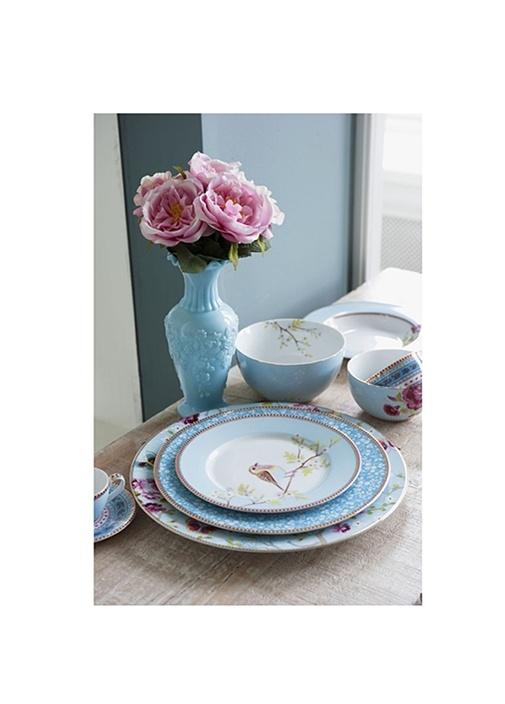 Floral Pip Haki Kahvaltı Tabağı