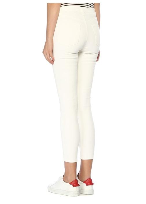 Lillie Beyaz Yüksek Bel Crop Skinny Jean Pantolon
