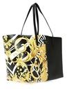 Siyah Gold Barok Baskılı Deri AlışverişÇantası