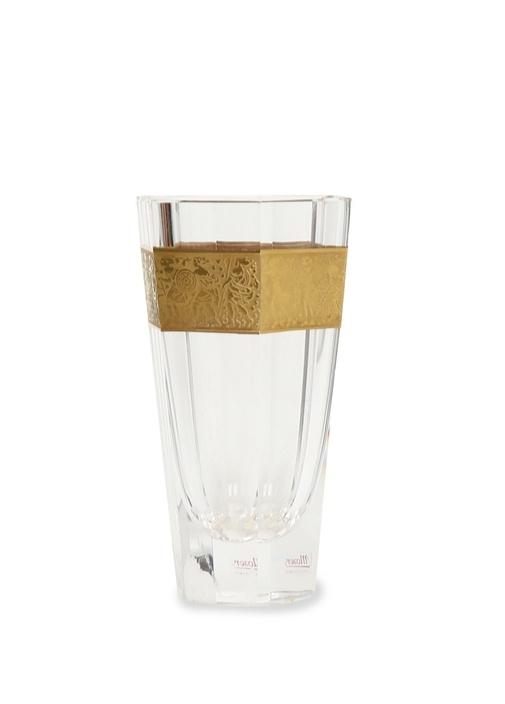 Gold Motifli Kristal Vazo