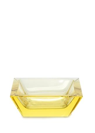 Moser Sarı Kare Formlu Kristal Kül Tablası Ürün Resmi