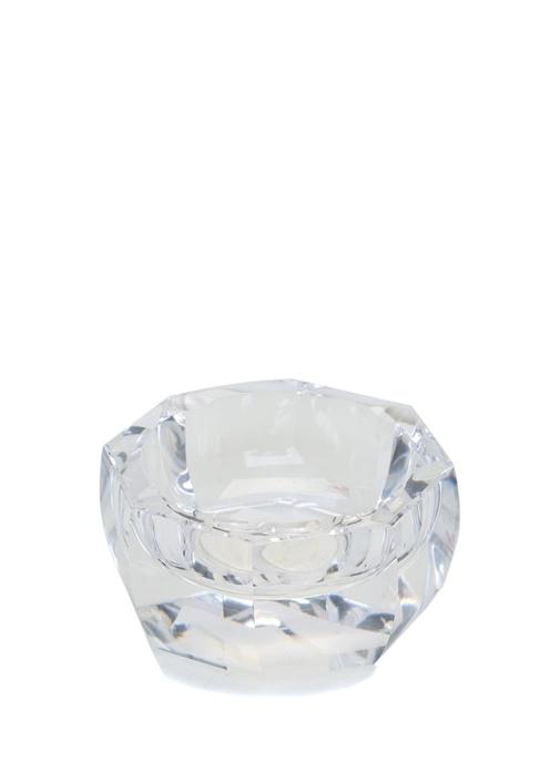 Şeffaf Geometrik Formlu Kristal Kül Tablası