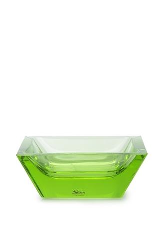 Moser Sarı Kare Formlu Kristal Kül Tablası Yeşil Ürün Resmi