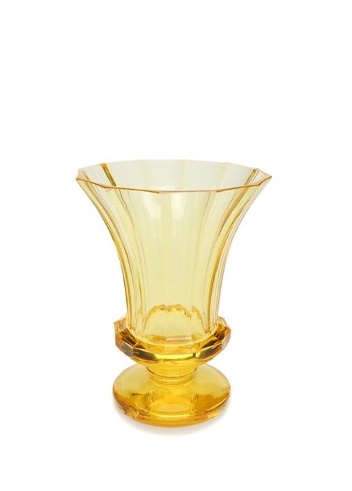 Sarı Ayaklı Kristal Vazo