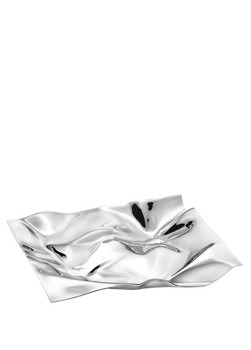 Small Dikdörtgen Formlu Çelik Tepsi