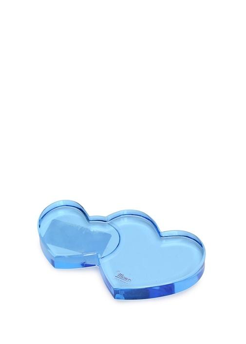 Mavi Kalp Formlu Kristal Obje