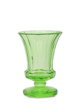 Moser Yeşil Ayaklı Kristal Vazo Ürün Resmi