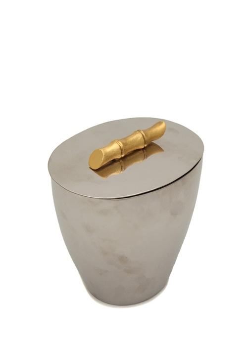 Bambou silver Kapaklı Metal Buz Kovası