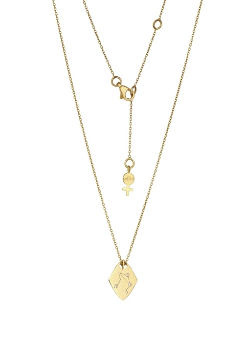 Zodiac Rose Gold Terazi Burcu Kadın Altın Kolye