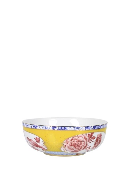 Royal Sarı Çiçek Desenli Kase