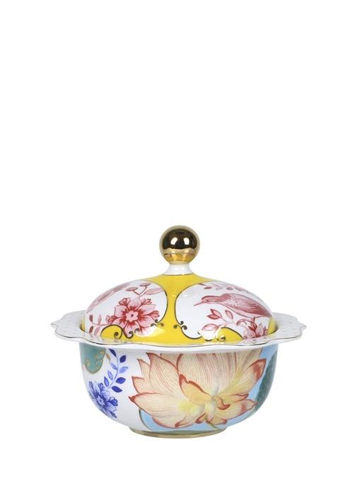 Royal Çiçek Desenli Porselen Şekerlik