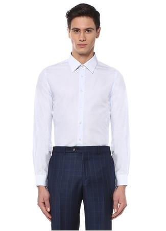 39 male Mavi Beymen Bes Erkek Custom Fit İngiliz Yaka Gömlek IT