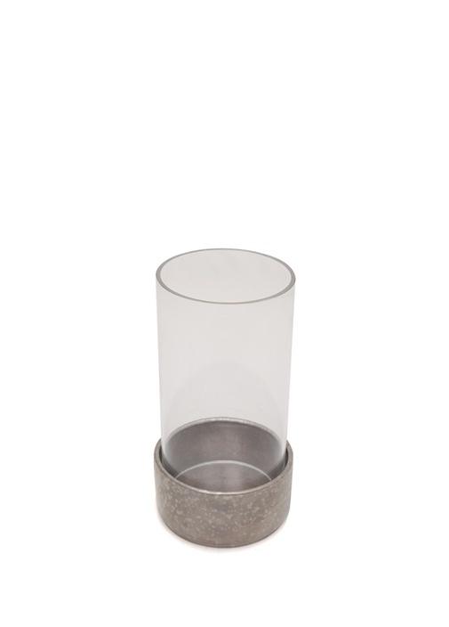 Alchimie Silver Detaylı Cam Mumluk