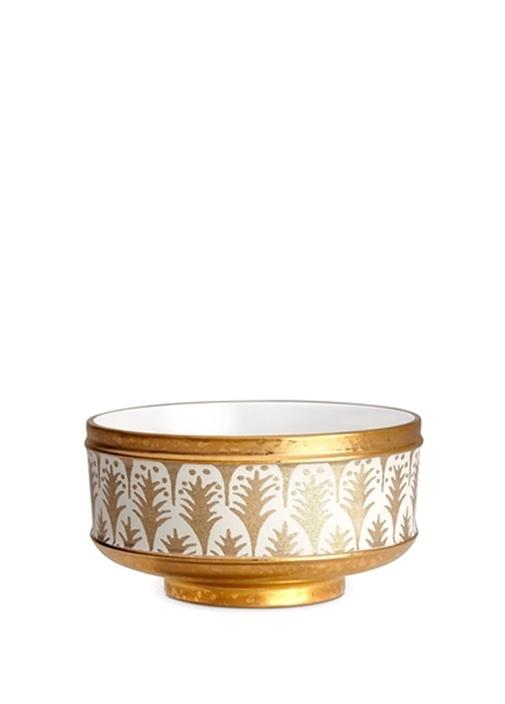 FortunyBeyaz Gold İşlemeli 4lü Porselen Kase