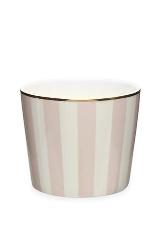 Miss Etoile Pembe Beyaz Çizgili Seramik Kupa Ürün Resmi