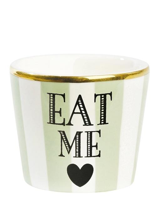 Eat Me Baskılı Porselen Yumurtalık