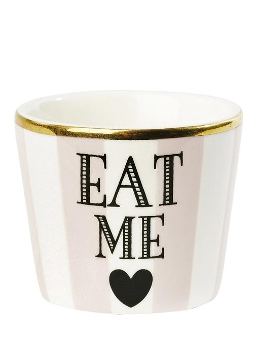 Eat Me Baskılı Porselen Sofra Süsü