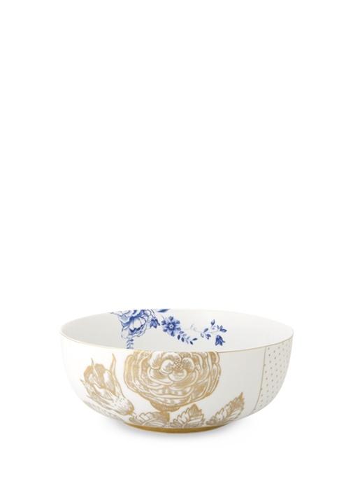 Royal Beyaz Altın Çiçek Desenli Kase