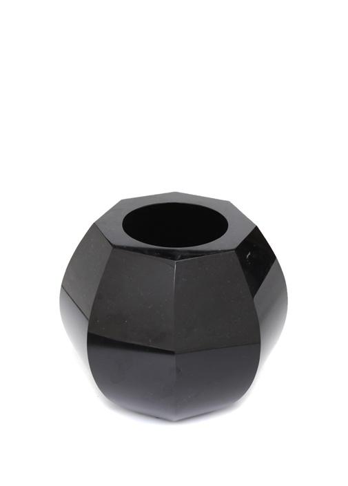 Siyah Geometrik Formlu Kristal Vazo
