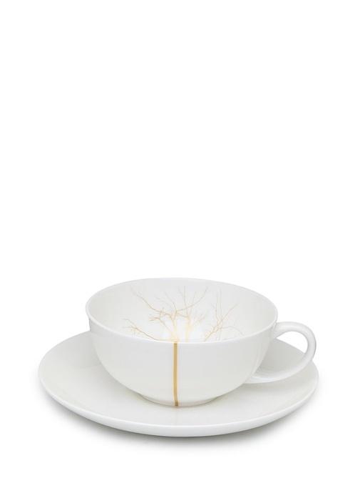 Dibbren Beyaz Gold 6li Porselen Fincan Seti