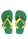 Brasil Logo Yeşil Çocuk Terlik
