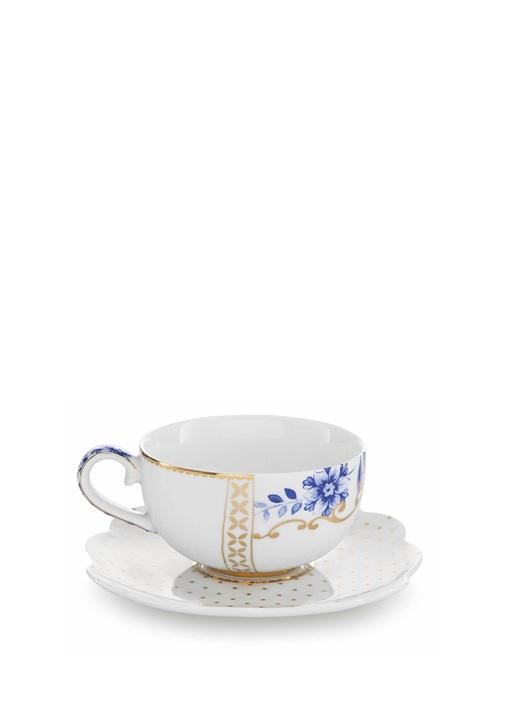 Royal Beyaz Altın Renkli Kahve Fincanı