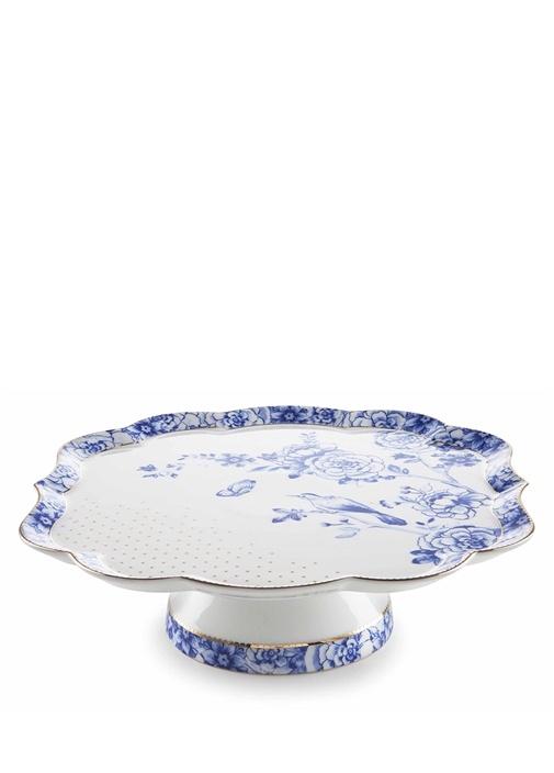 Royal Beyaz Mavi Mini Kek Standı