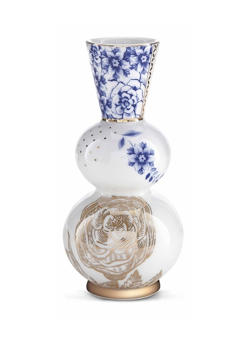 Royal Vazo Beyaz Mavi