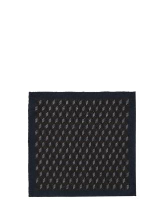 Kahverengi Geometrik Desenli Yün Poset Mendil Beymen Collection