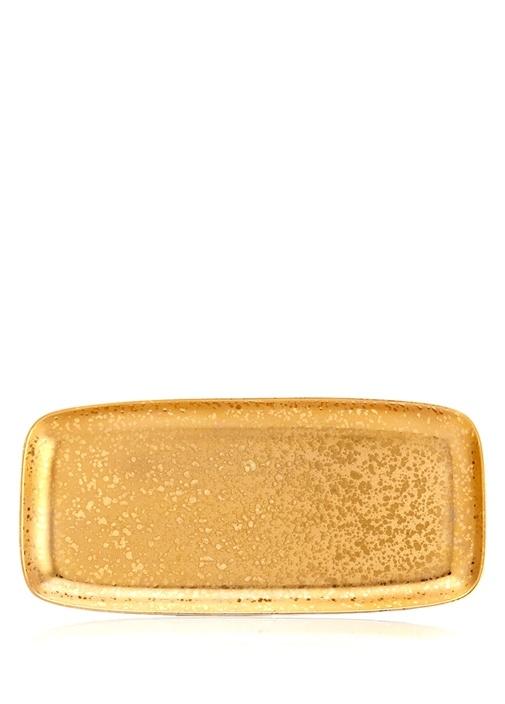 Alchimie Gold Dikdörtgen Porselen Servis Tabağı