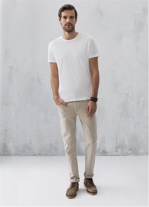 Bisiklet Yaka Standart Fit Beyaz Tshirt