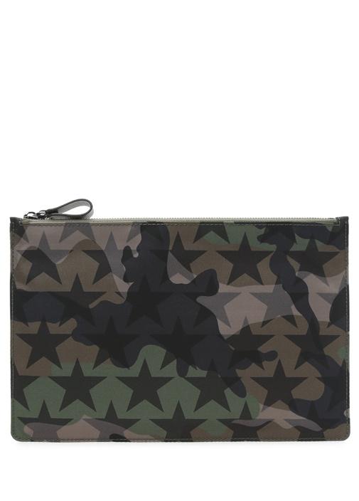 Valentino Garavani Camouflage Seyahat Cüzdani