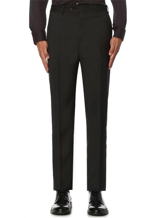 Drop 7 Gri Normal Bel Pilesiz Yün Pantolon