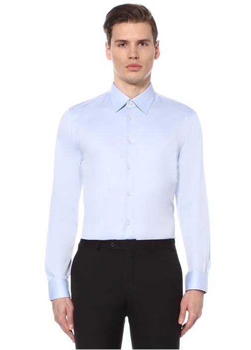 Mavi Standart Fit Klasik Gömlek