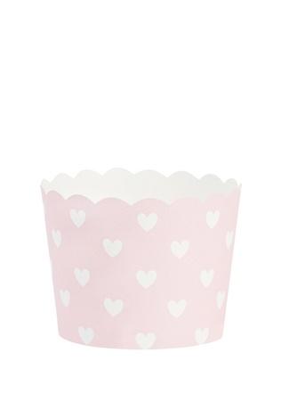 Miss Etoile Pembe Beyaz Desenli Pişirme Kabı Ürün Resmi