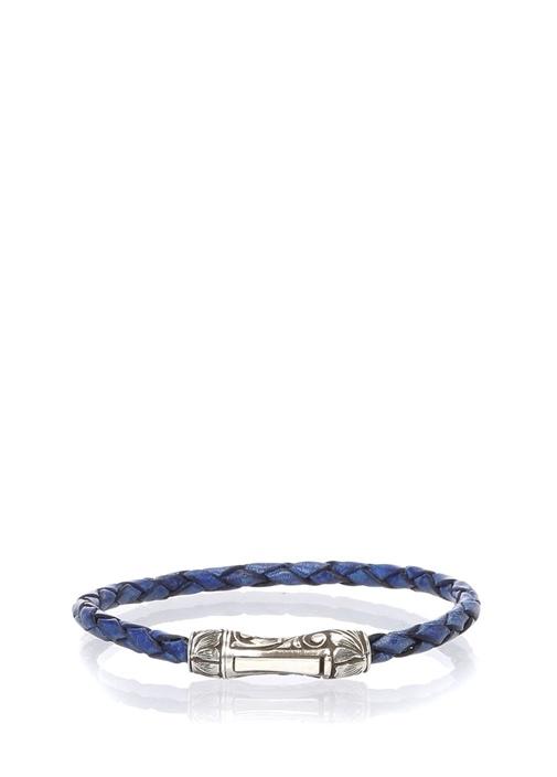 Single Lock Curved MS Mavi Erkek Bilezik