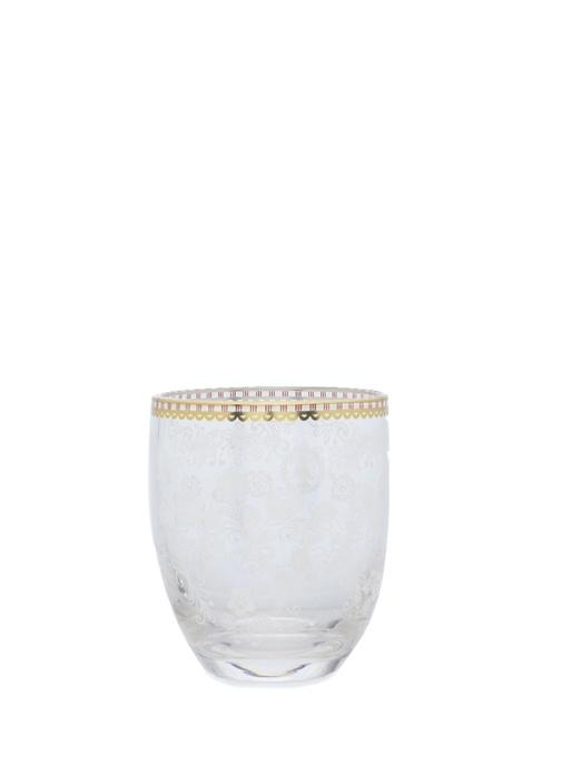 Floral Cam Su Bardağı