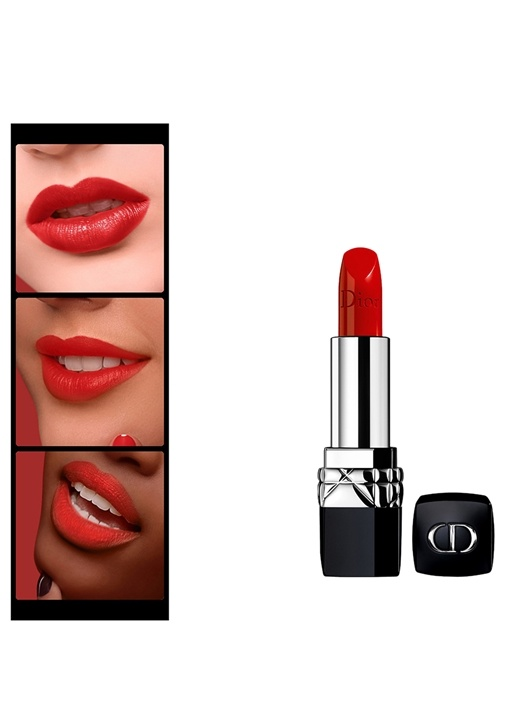 Christian Dior Rouge Dior Lipstick 999 Rouge Dior Ruj 999 Rouge Dior