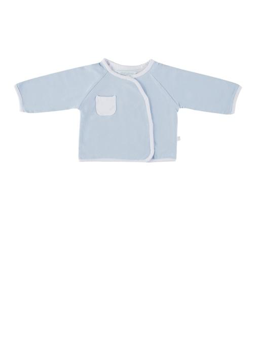 Mavi Anvelop Yaka Unisex Organik Pamuk Çocuk Ceket