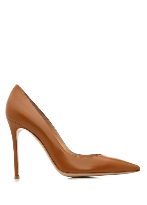 Gianvito Rossi Taba KADIN  105 Taba Kadın Deri Topuklu Ayakkabı 220717 Beymen