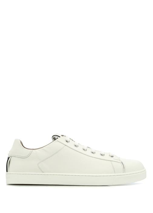 Gianvito Rossi Beyaz KADIN  David Beyaz Şeritli Kadın Deri Sneaker 222706 Beymen