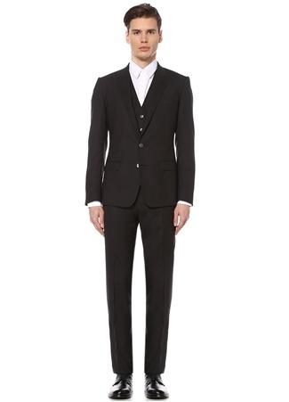 50 male Gri Dolce&Gabbana Erkek Antrasit Dokulu Yelekli Takım Elbise IT