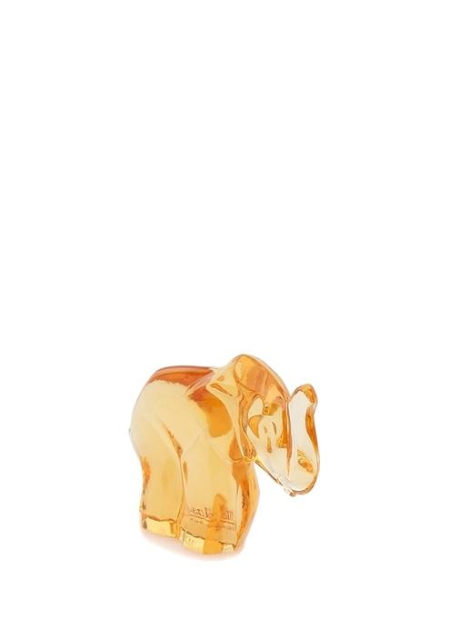 Kahverengi Fil Formlu Kristal Obje