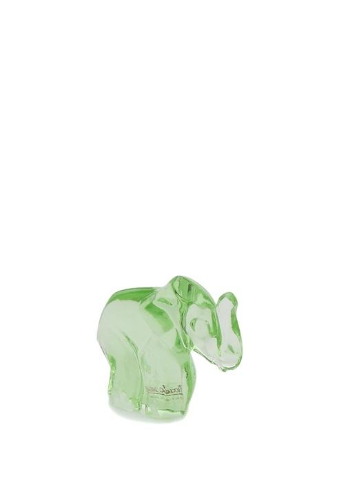 Yeşil Fil Formlu Kristal Obje